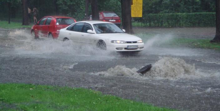 extreme zomerse regenval